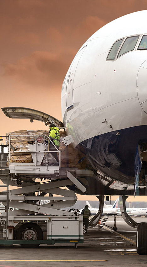 Air transportation of cargo from China, Korea, Japan